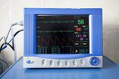 stock photo of icu  - Health care portable monitoring equipment - JPG