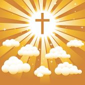 Christian Cross In The Sky