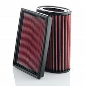 stock photo of modification  - Air filters on white background - JPG