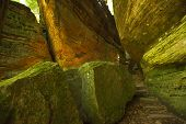 Cantwell Cliffs is a spectacular attraction in Hocking Hills State Park in Ohio
