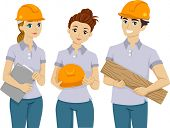 Illustration of Teens Doing Volunteer Work