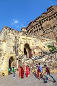 People Visit Meherangarh Fort - Jodhpur - India