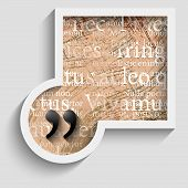 Abstract Gray Frame With Pattern And Quotation Mark