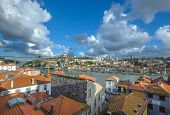 Panorama Of Porto And Vila Nova De Gaia, Portugal