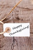 Natural Background With Happy Thanksgiving