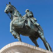 Monument To King Carlos Iii Of Spain To Puerto Del Sol In Madrid