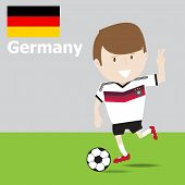 Cute Germany Soccer Player.