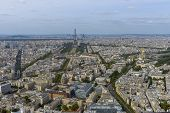 Aerial View Of Paris Taken From Montparnasse Tower