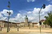 BERLIN, GERMANY - MAY 24, 2014: View of Charlottenburg Palace, is largest surviving royal palace in
