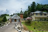 SARAWAK, MALAYSIA: JUNE 1, 2014: The St. John's Parish Church of Kampung Taee was established in 191