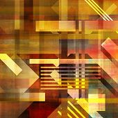 art abstract geometric textured colorful background in vanguard style in yellow, orange, red and brown colors