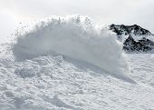 Freerider Snowboarder In Snow Powder