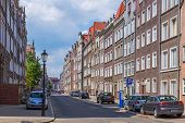 GDANSK, POLAND - 20 MAY: Brick architecture of old town in Gdansk on 20 May 2014. Gdansk is the hist
