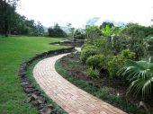 Garden Brick Paver Walk Pathway