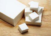 Tofu japanese on block sliced
