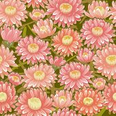 Seamless red chrysanthemum backgrounds
