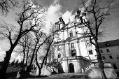 Church of St.Stanislaus Bishop in Krakow (black and white photo)