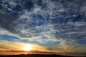 Beautiful sunset sky background texture