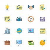 Flat Business & Office Icons