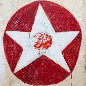 White Star On Red Circle Graffiti