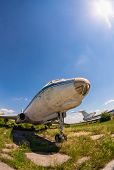 Samara, Russia - May 25, 2014: Old Russian Aircraft Tu-104 At An Abandoned Aerodrome In Summertime