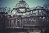 Crystal Palace (Palacio de Cristal) in Parque del Retiro in Madrid