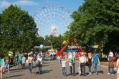 People Walking In Vdnkh Park