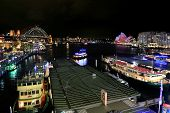 Sydney Harbour, City, Circular Quay And The Rocks During Vivid Sydney