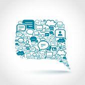 Chat communication concept