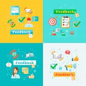 Feedback web graphic elements set