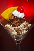 Chocolate Ice Cream In A Martini Glass