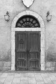 Wooden Door And Wall