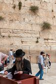 Orthodox Jews Pray At Western Wall, Jerusalem