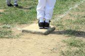 Baseball Standing On Base