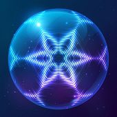 Cosmic shining vector abstract sphere