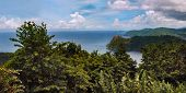 Maracas bay in Trinidad and Tobago view from the above the hills