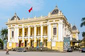 HANOI, VIETNAM - April 7, 2014, Hanoi Opera House. It was modeled on the Palais Garnier, the older o