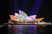 Sydney Opera House In Vibrant Geometric Colours
