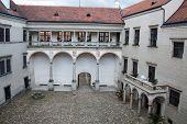 Courtyard of the castle in Telc
