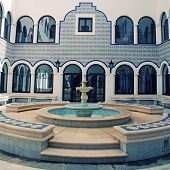 Marble Fountain In Arabic Style Patio(Morocco)