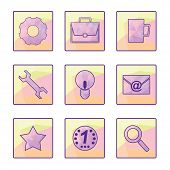 Set Of Vector Icons In A Modern Style Polygon.