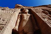 Queen Nefertari Temple Huge Sculpture