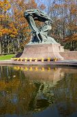 stock photo of chopin  - Famous statue of Frederic Chopin - JPG
