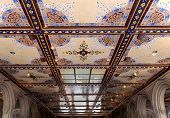 stock photo of arcade  - New York City central park Bethesda Terrace underpass arcade detail - JPG