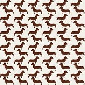 Cute little dogs scotch terriers silhouette seamless pattern