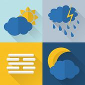 Flat Style Weather Icons