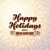 Holiday card on fur background