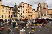 Campo de Fiori square in Rome Italy