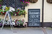 Husband Creche Sign
