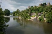 Ludlow Castle And Riverside